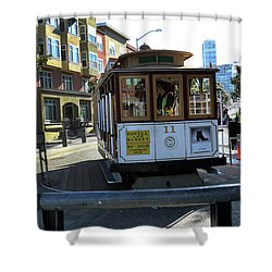 Cable Car Turnaround Shower Curtain