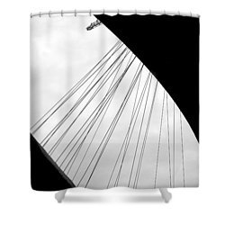 Shower Curtain featuring the photograph Cables And Funes by Valentino Visentini