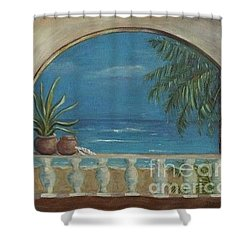 Cabo Arch Shower Curtain by Jeanie Watson