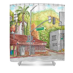 Cabo Cantina, Sunset Blvd And Sweetzer Ave., West Hollywood, California Shower Curtain