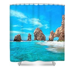 Cabo San Lucas Mexico Shower Curtain