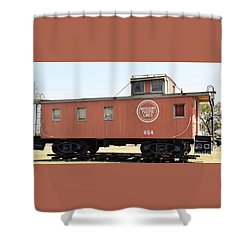 Shower Curtain featuring the photograph Caboose by Ray Shrewsberry