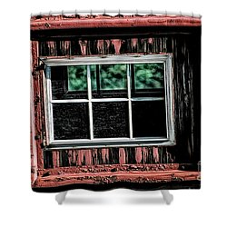 Shower Curtain featuring the photograph Caboose Window by Brad Allen Fine Art