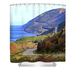 Cabot Trail, Cape Breton, Nova Scotia Shower Curtain