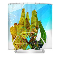 Cacti Embrace Shower Curtain