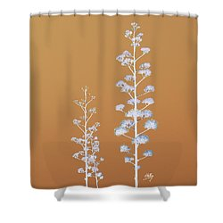 Shower Curtain featuring the photograph Cactus Architectre by Linda Hollis