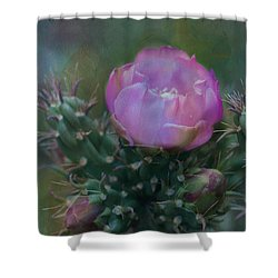 Cactus Beauty Shower Curtain by Carolyn Dalessandro