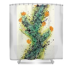 Cactus Bloom - Art By Jim Whalen Shower Curtain
