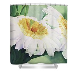 Shower Curtain featuring the painting Cactus Flower by Teresa Beyer