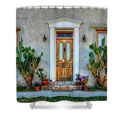 Shower Curtain featuring the photograph Cactus Guards by Ken Smith