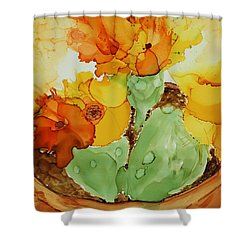 Cactus In A Pot Shower Curtain