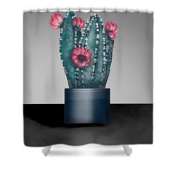 Cactus In Bloom I  Shower Curtain