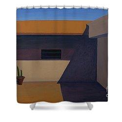 Cactus In Summer Heat Shower Curtain