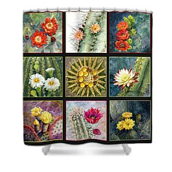 Cactus Series Shower Curtain by Marilyn Smith