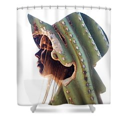 Cactus Suit Of Armor Shower Curtain