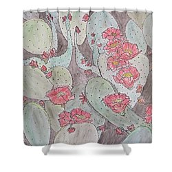 Cactus Voices #2 Shower Curtain