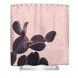 Cactus With Polka Dots Shower Curtain