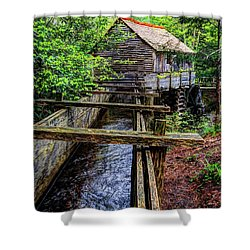 Cades Cove Grist Mill In The Great Smoky Mountains National Park  Shower Curtain