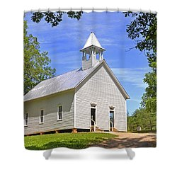 Cades Cove Methodist Church Shower Curtain