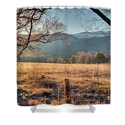Shower Curtain featuring the photograph Cades Cove, Spring 2017 by Douglas Stucky