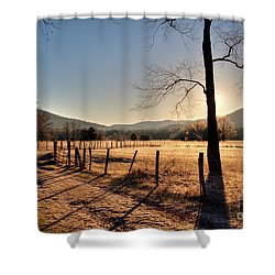 Shower Curtain featuring the photograph Cades Cove, Spring 2017,i by Douglas Stucky