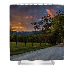 Shower Curtain featuring the photograph Cades Cove Sunrise by Michael Sussman