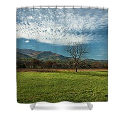 Cades Cove Tennessee Shower Curtain by Lena Auxier