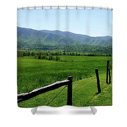 Cades Cove View Shower Curtain by Nancy Mueller