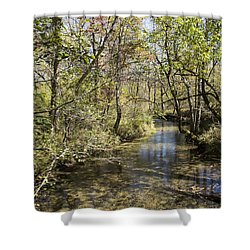 Cades Creek Shower Curtain by Ricky Dean