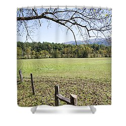 Cades Fence Shower Curtain