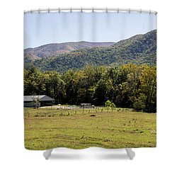 Cades Place Shower Curtain by Ricky Dean