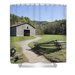 Cades Stables Shower Curtain by Ricky Dean