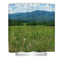 Shower Curtain featuring the photograph Cades Valley by Geraldine DeBoer