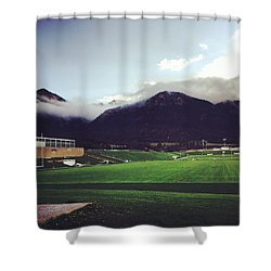 Cadet Athletic Fields Shower Curtain