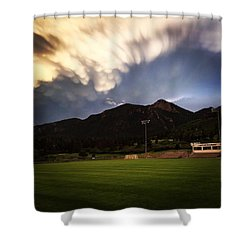 Cadet Soccer Stadium Shower Curtain by Christin Brodie
