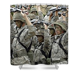 Cadets Prepare To Participate Shower Curtain by Stocktrek Images