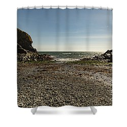Shower Curtain featuring the photograph Cadgwith Cove Beach by Brian Roscorla