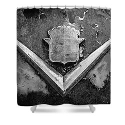 Cadillac Emblem On Rusted Hood Shower Curtain