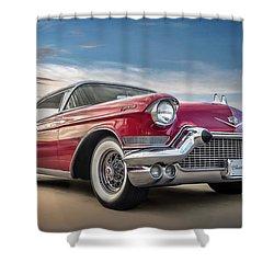 Shower Curtain featuring the digital art Cadillac Jack by Douglas Pittman