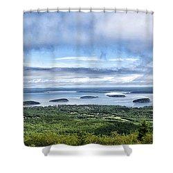 Cadillac Mountain View - Acadia National Park Shower Curtain