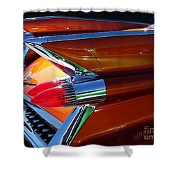 Shower Curtain featuring the photograph Cadillac Tail Fin View by Patricia L Davidson
