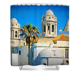 Cadiz Cathedral Shower Curtain
