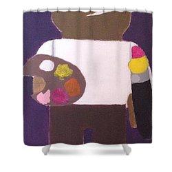 Cadmium Artisto Shower Curtain