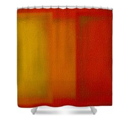 Cadmium Lemon Shower Curtain by Charles Stuart