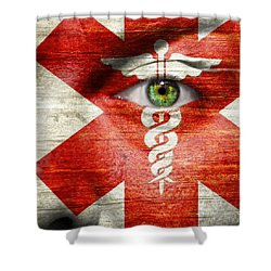 Caduceus  Shower Curtain by Semmick Photo