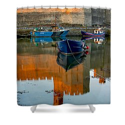 Caernarfon Reflections Shower Curtain