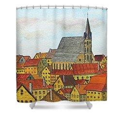 Cesky Krumlov Shower Curtain