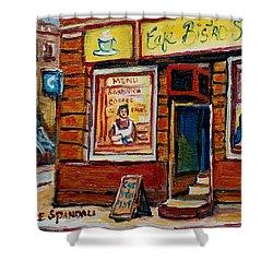 Cafe Bistro St. Viateur Shower Curtain by Carole Spandau
