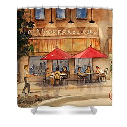 Cafe Chocolate Shower Curtain