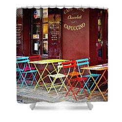 Cafe Color - Paris, France Shower Curtain